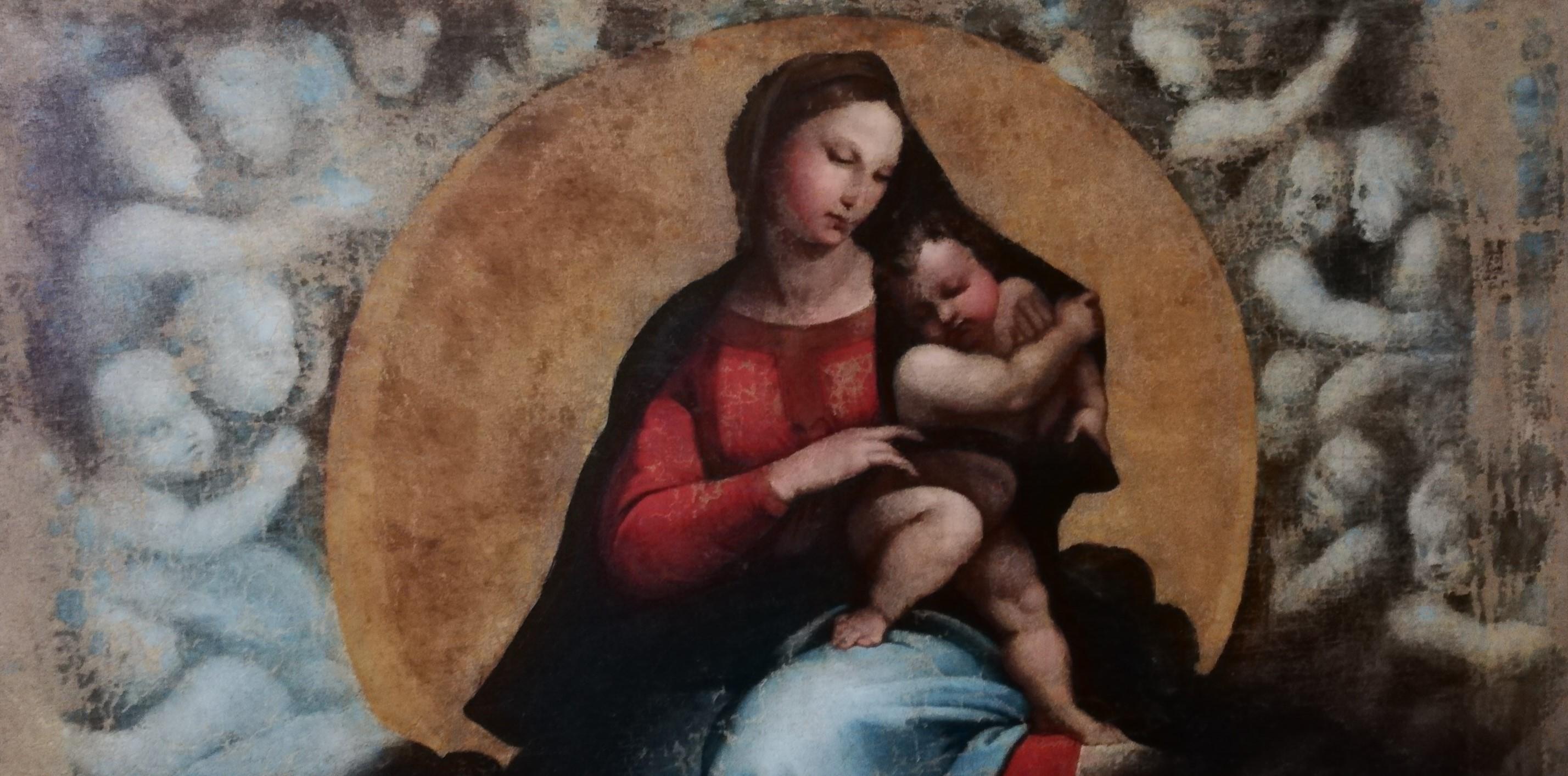 Sistine Madonna - Pittura Dallartista Raphael Santi Alla
