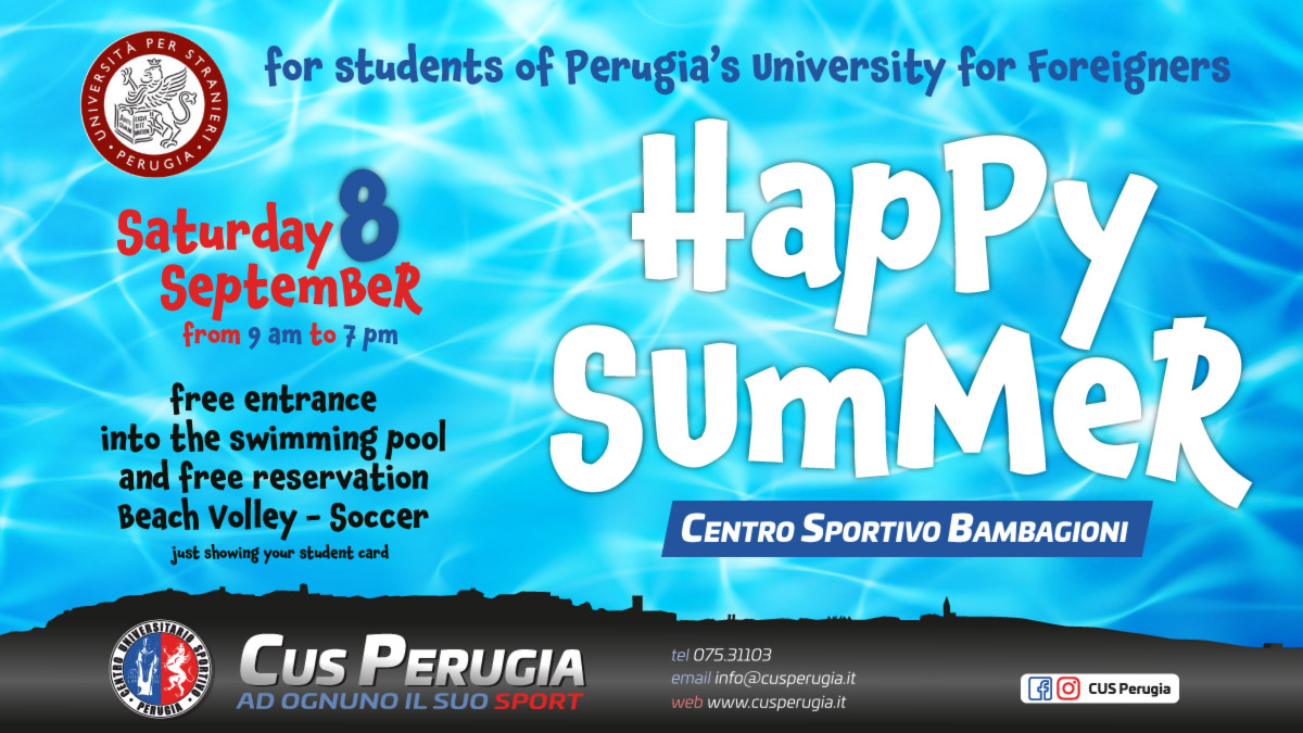 Cus Perugia Happy Summer 2018