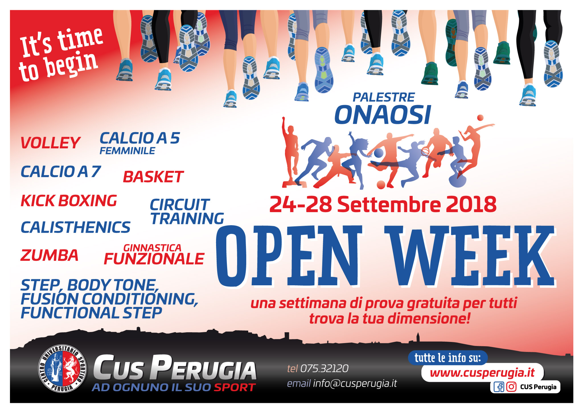 Cus Perugia Open Week 2018