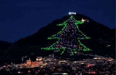 Albero Di Natale Grande.Gubbio Acceso L Albero Di Natale Piu Grande Del Mondo Umbria