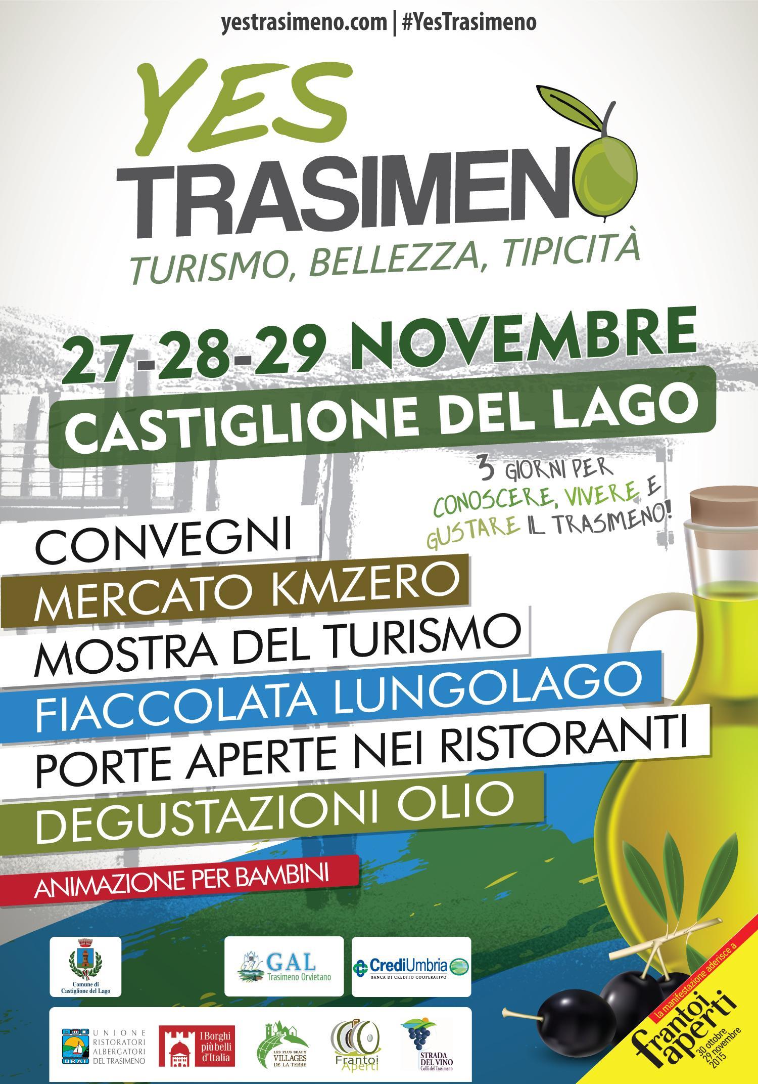 Castiglione del lago al via yes trasimeno conoscere for Vacanze a novembre in italia