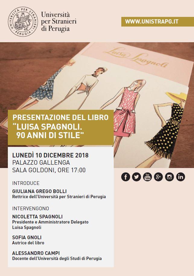 Invito Luisa Spagnoli Monografia Perugia 10.12.2018