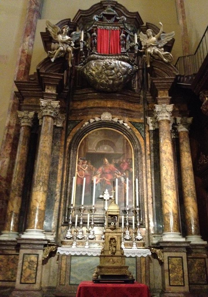 cattedrale di s.lorenzo cappella del santanello