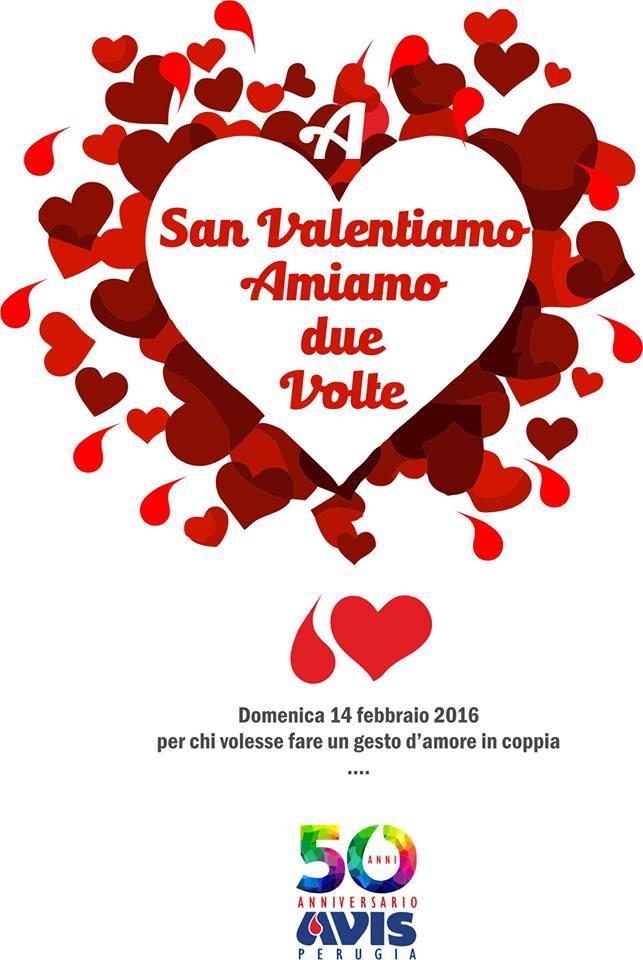 """A San Valentino """"Amiamo due volte"""". Donazione di coppia per gli innamorati  perugini d91082ce4f2"""